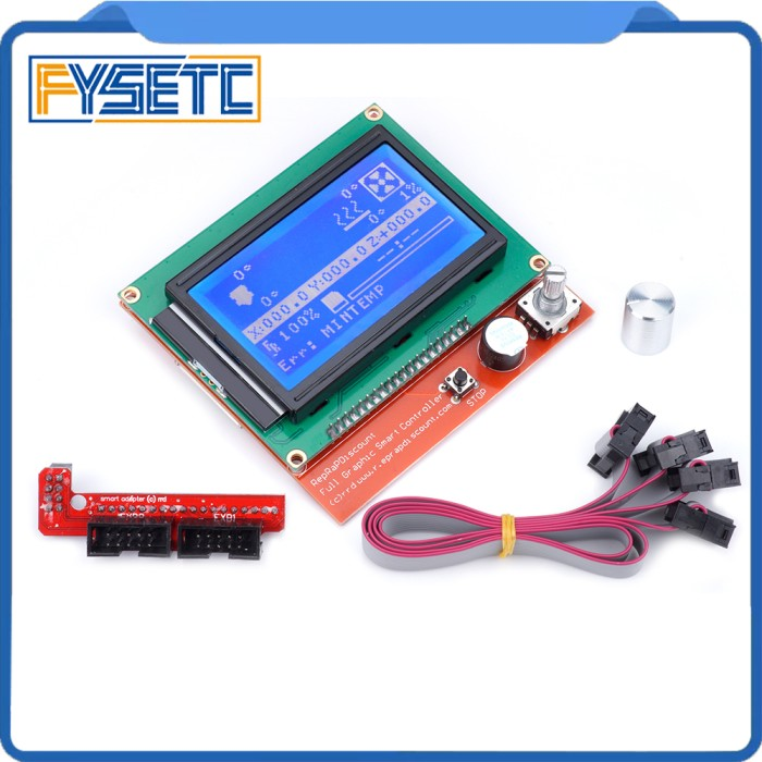 Blue Backlight LCD Module Graphic Smart Controller RAMPS Reprap Extended Parts