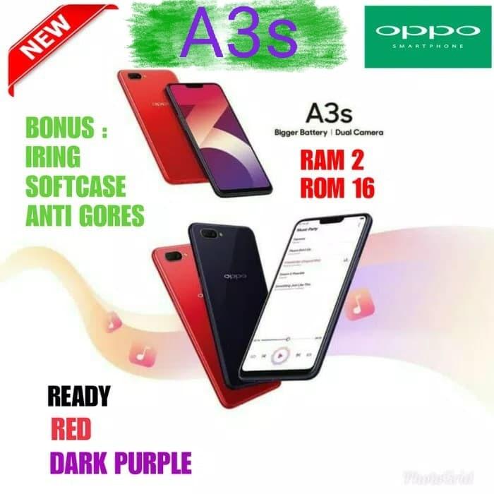 OPPO A3S 2/16GB GARANSI RESMI OPPO INDONESIA-WARNA MERAH-PURPLE