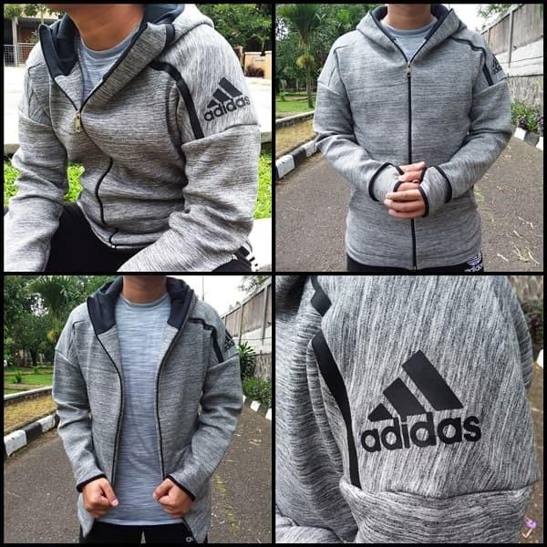 Jual Jaket Adidas ZNE Hoodie Travel Grey Grade A+ Kota Bandung M16 Sport New   Tokopedia