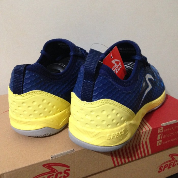 Jual Sepatu Futsal Specs Metasala Knight Galaxy Blue Yellow