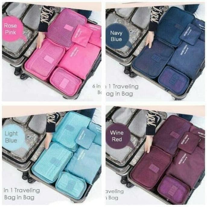 Generic Weekeight Korean Partition Shoes And Underwear Organizer Bag Source · New 6 In 1 Korean Travel Bag In Bag 1 Set Isi 6 Pcs Organizer