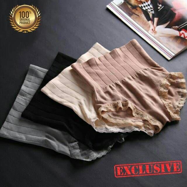 Korset Pelangsing Perut Munafie Celana Original/ Munafie Slimming Pant - Hitam