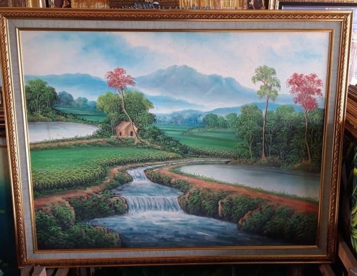 Jual Lukisan Gunung Merapi Kab Kediri Koreng Mania Tokopedia