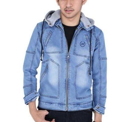 Jual Jaket jeans pria - Putih c8c68dd0b3