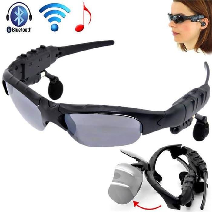 Kacamata Sport MP3 Player Wireless Bluetooth Stereo Music Headseat
