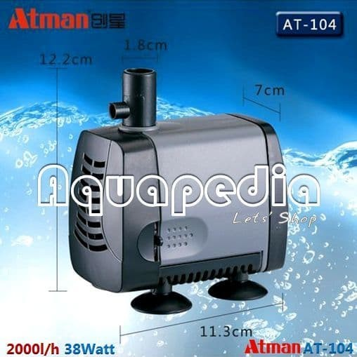 ATMAN AT-104 Pompa Celup Aquarium Kolam Submersible Water Pump