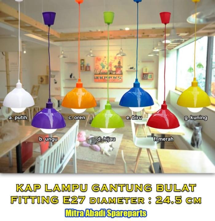 Cup Hanging Lamp/Kap Lampu Gantung Topi 24.5 cm Fitting E27 70 cm - Hijau muda