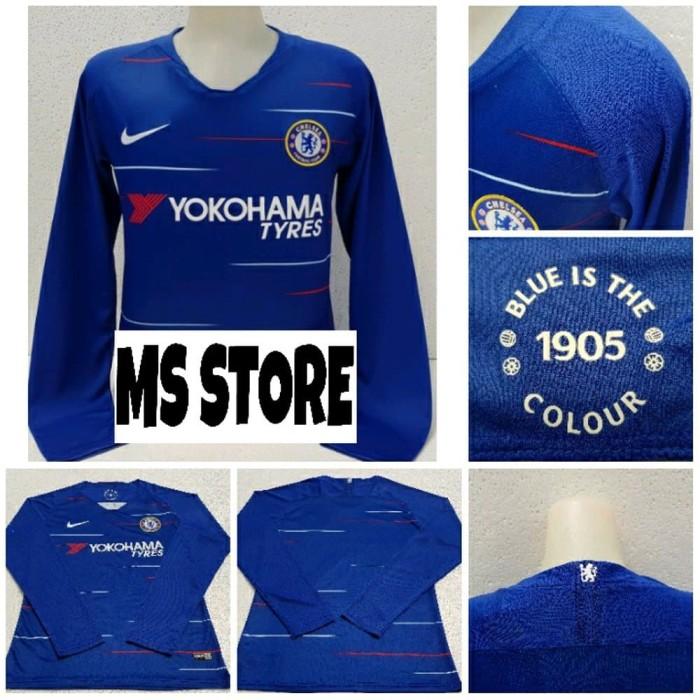Jual Baju Kaos Jersey Bola Long Sleeve Chelsea Home 2018-2019 - MS ... 1f2d1d55d7