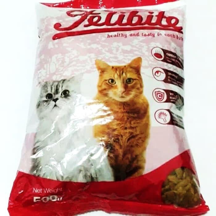 Dry food makanan kering kucing felibite 1 kg murah repack