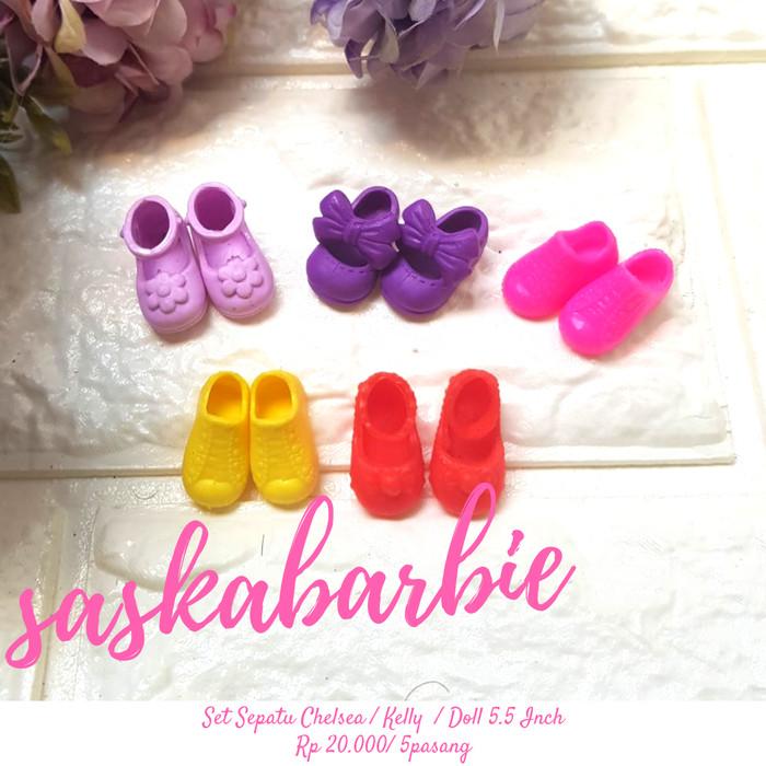 ... harga Ssc 002 - set sepatu chelsea 5pair - doll 5.5 inch - boneka -  original aaa7065888