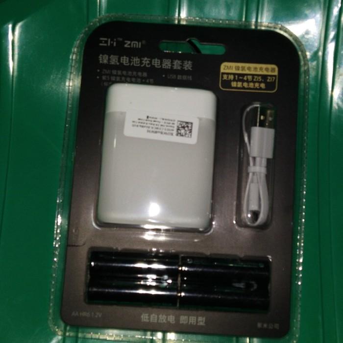 Xiaomi Case Charger (ORIGINAL) + Batu Baterai Cas AA 4PCS (Zi5) - Putih