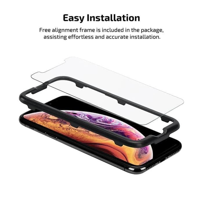 Foto Produk Pitaka Tempered Glass iPhone XS MAX PITAKA Glass 0.3mm (Case Friendly) dari Primary Original