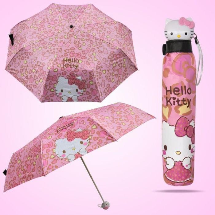 Payung lipat hello kitty dewasa besar