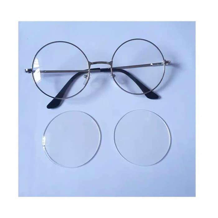 88688865b53e Jual Round Glasses Frame Black Silver Gold Kacamata Bulat Kpop Korea