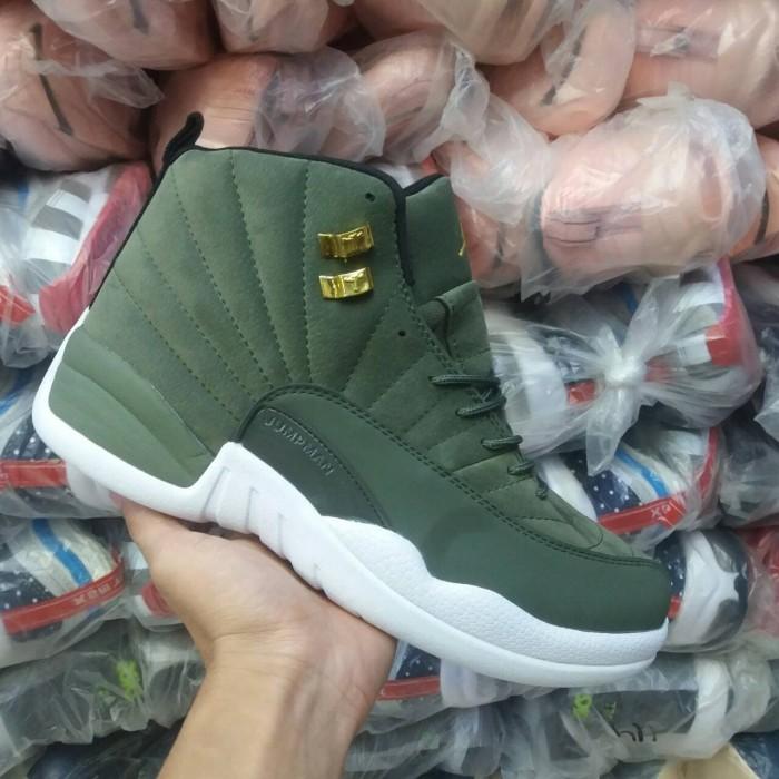 cd4226fe9db3de Jual Sepatu Basket Jordan 12 Olive Green - DKI Jakarta - ridoshop9 ...