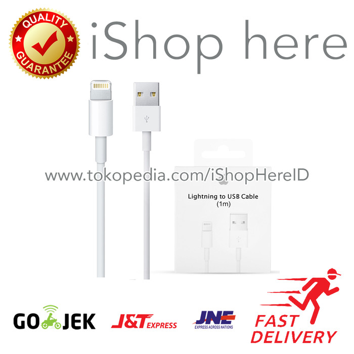 Foto Produk Kabel Charger Data Lighting to USB Cable iPhone Original Apple dari iShop Here