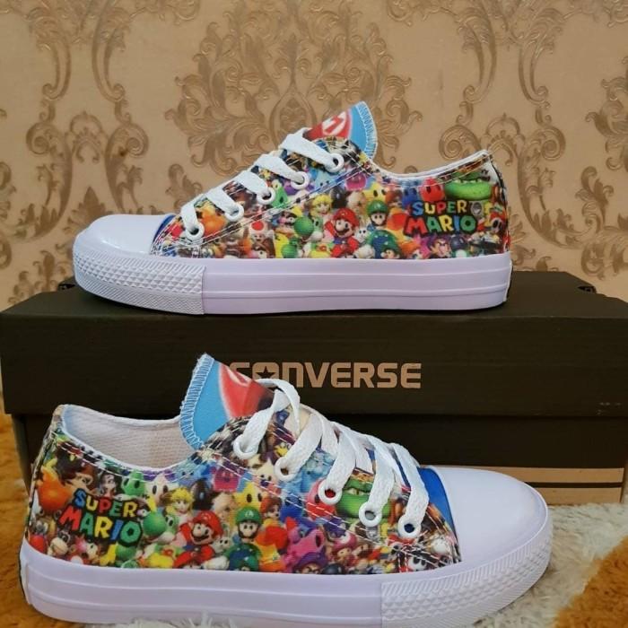 Jual Sepatu All Star Converse Anak Kids Motif Super Mario Murah ... 712b1329a9