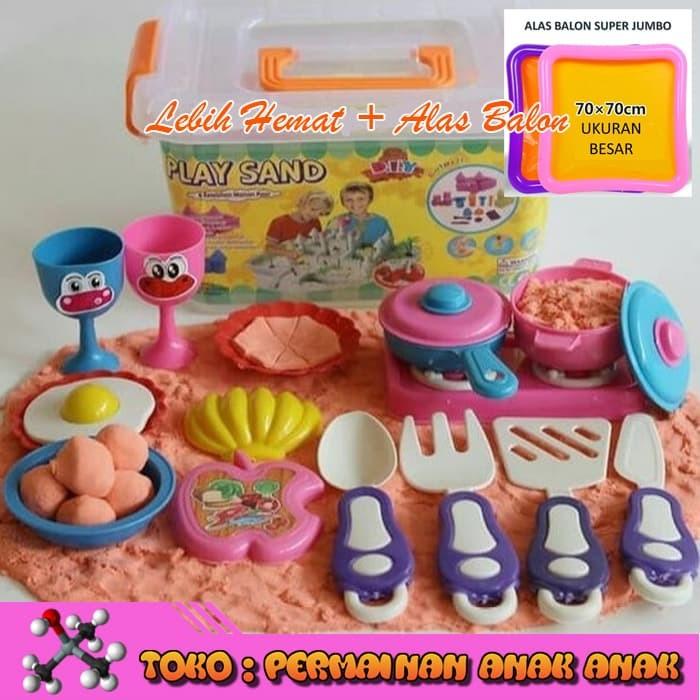 Alas Balon + Pasir Kinetik 1kg Play Magic Sand Cooking Set Pasir Ajaib.  Category   cefaf9de1d