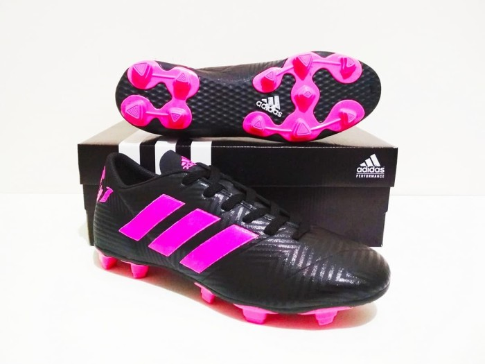 Sepatu bola adidas nemeziz 18 fg murah berkualitas (black pink) harga ... 99d062ebb2