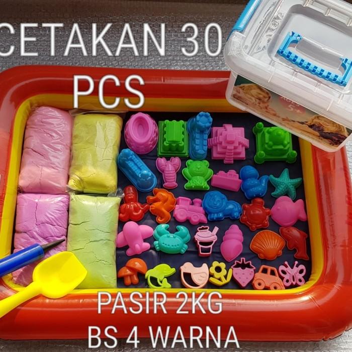 Foto Produk Paket Mainan Pasir Kinetik Ajaib Jumbo 2kg Murah Alas Ban dari cucigudanglego