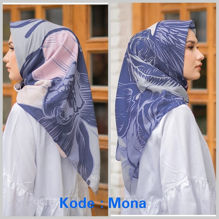 Hijab voal premium mylady mona biru