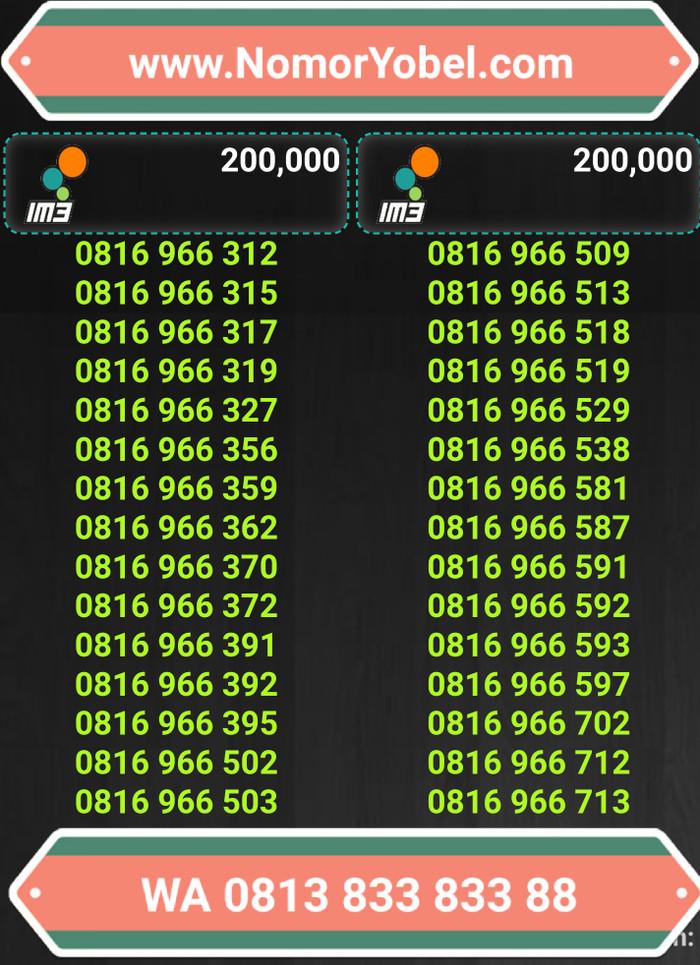 harga Nomor cantik kartu perdana indosat mentari im3 10 digit Tokopedia.com