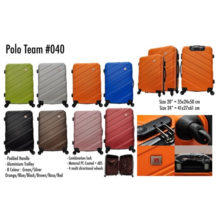Tas Koper Polo Team Hardcase Fiber Kabin size 20 inch - 040