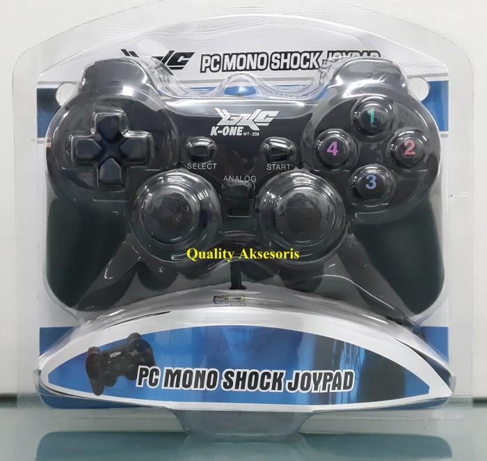 harga Gamepad single hitam  game pad   joystick pc usb k-one untuk komputer Tokopedia.com