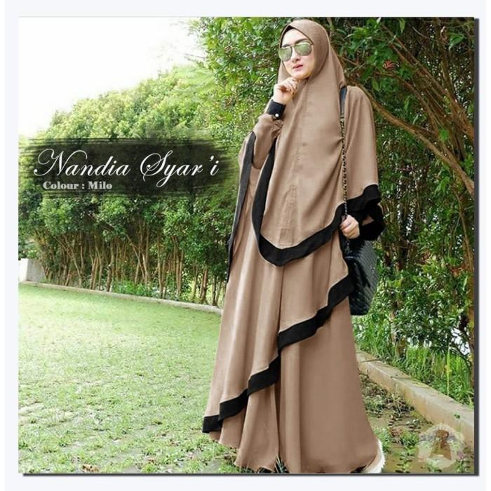 Foto Produk Baju Busana Muslim Wanita Gamis Syari Pesta Nandia Terbaru dari ARES FASHION STORE