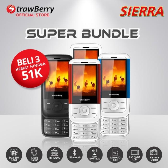 harga [fs] strawberry sierra - paket bundle 3 / hp candybar / bluetooth Tokopedia.com