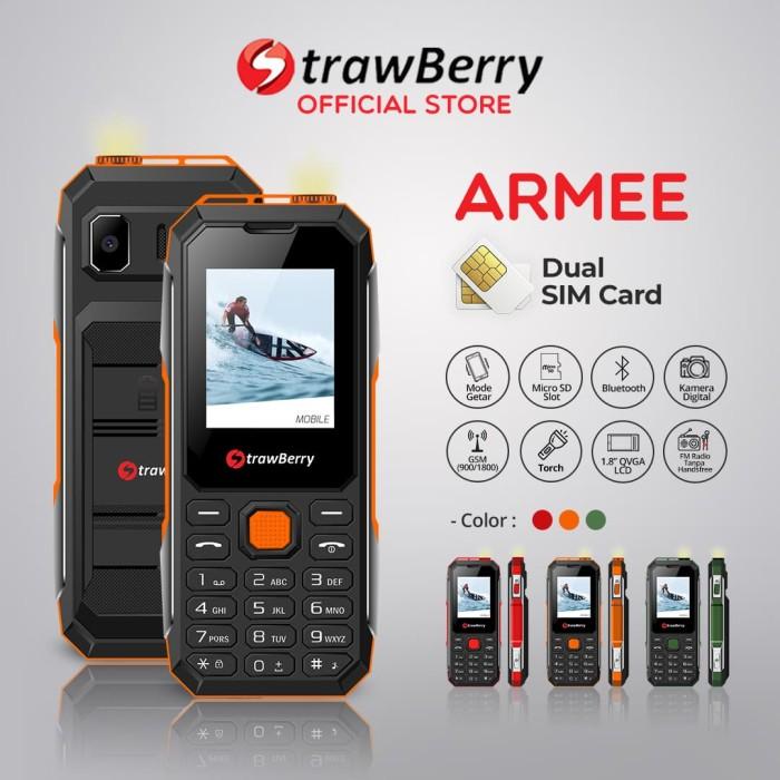 harga [fs] strawberry armee   handphone candybar hp murah kamera speaker - orange Tokopedia.com