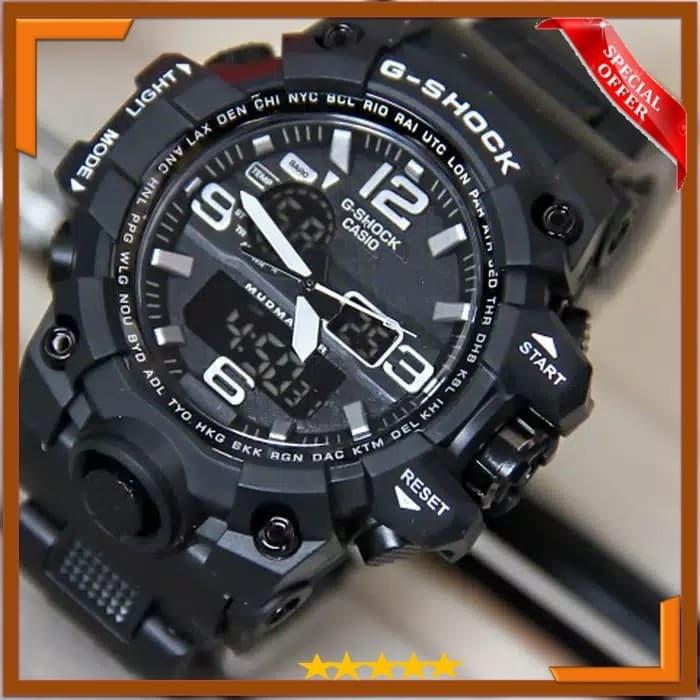 Jual Jam Tangan Pria Anti Air Waterproof Rubber CASIO G SHOCK Dual ... 0776189dc7