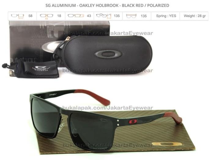 kacamata sunglass wanita pria Aluminium Holbrook Black Red Polarized 3857857d19