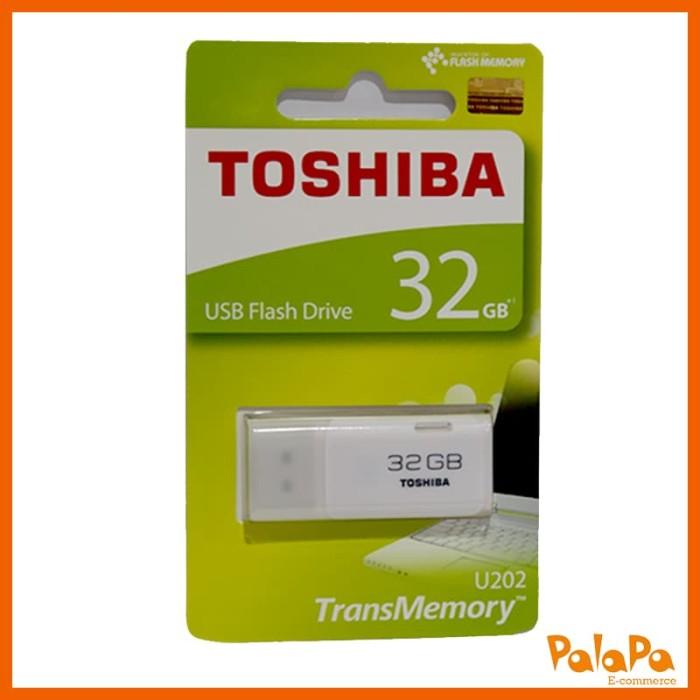 TOSHIBA Original Flashdisk Hayabusa 32GB Putih + Free Gurita HP