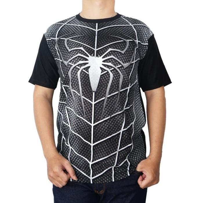 Vanwin - Kaos Distro Spiderman Full Body - Hitam Limited