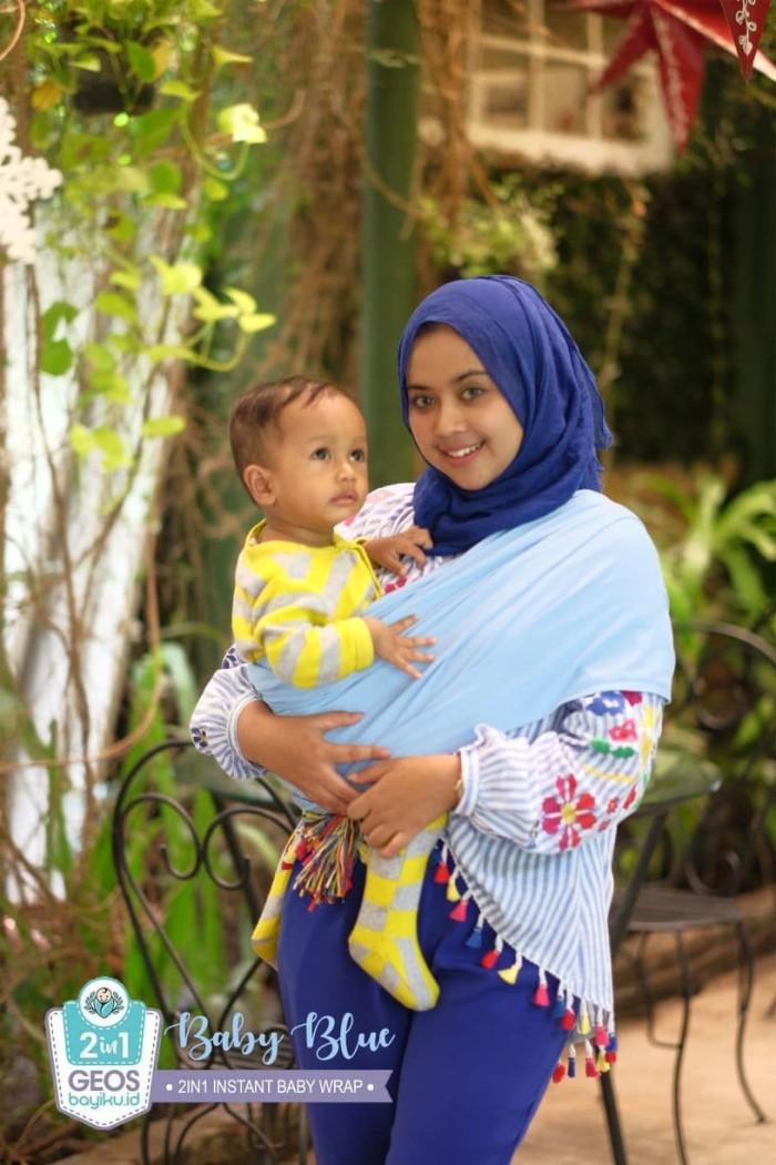 Jual Gendongan Bayi Geos Modern Instant Wrap 2 In 1 Baby Blue