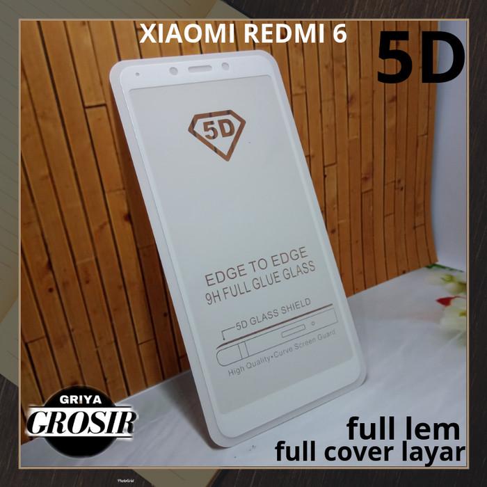 Jual Tempered Glass 5d Xiaomi Redmi 6 Anti Gores 5d Full Cover Layar