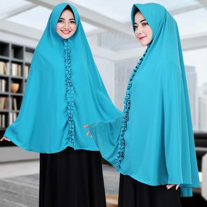 Khimar hijab Jilbab Instan Syari Super Jumbo bahan Wollpis yang adem