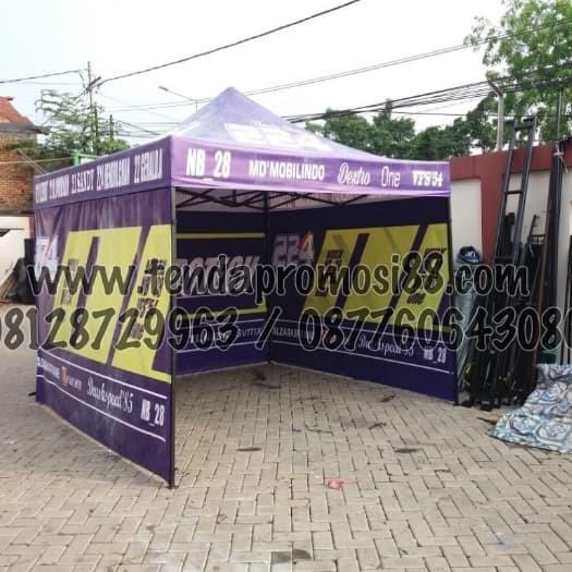 Foto Produk jual Tenda Lipat Custom Dinding Print 3x3m - Biru dari Berkah Media Promosi