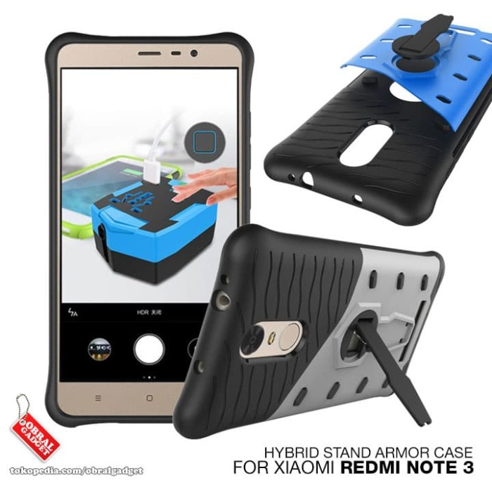 Xiaomi Redmi Note 3 Pro Hybrid Shockproof Slim Armor Hard & Soft Case ...