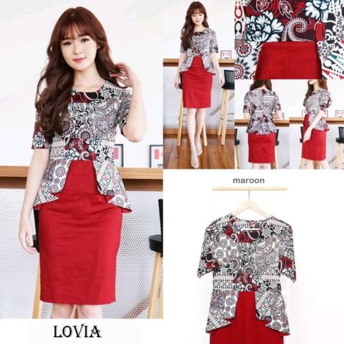 harga Lovia dress jumbo - dress batik jumbo wanita terusan wanita Tokopedia.com