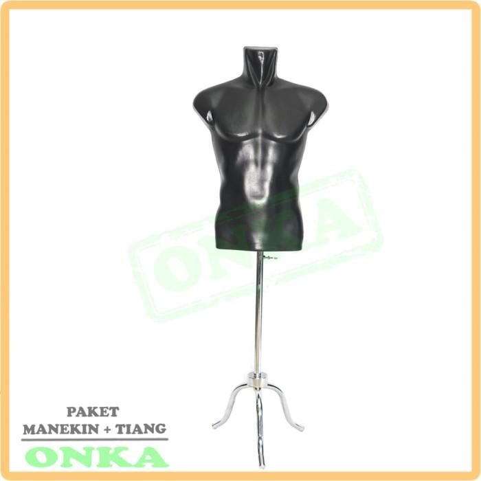 harga Manekin cowok hitam + kaki besi   patung cowok set   manekin murah Tokopedia.com