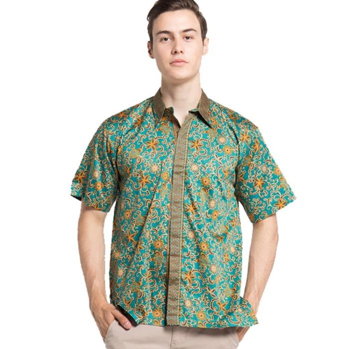 harga Rianty felix hem kemeja baju batik pria rianty batik hem green - hijau m Tokopedia.com