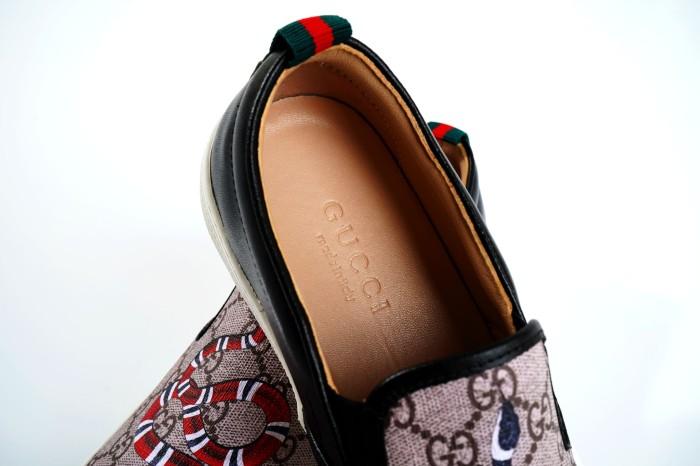 0b3564fe74b Jual Sepatu Sneakers Gucci GG Supreme Snake Slip On Mirror Quality 1 ...