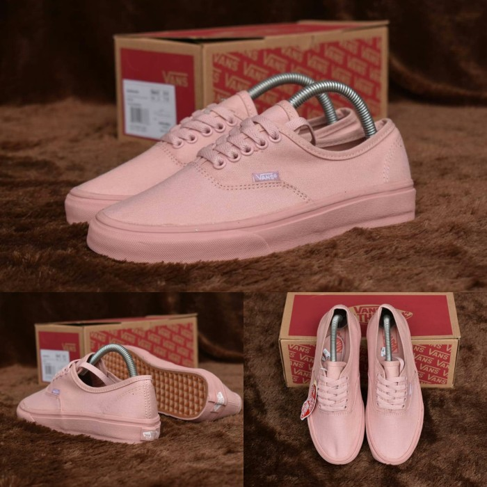 413503768b Sepatu vans authentic rosy full pink pastel - premium original