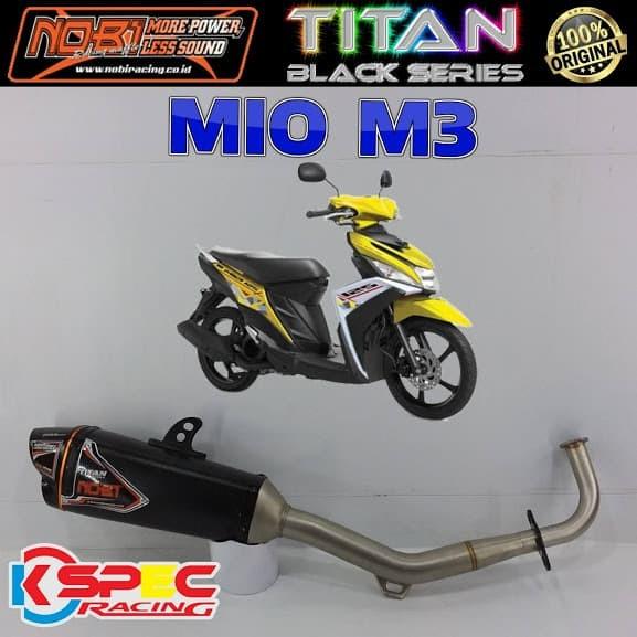 harga Nobi titan black series mio m3 knalpot nob1 racing Tokopedia.com