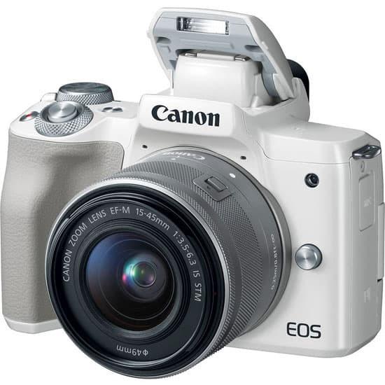 harga Canon eos m50 ef-m15-45mm/55-200mm white Tokopedia.com