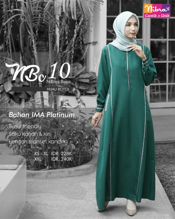 Jual Baju Gamis Polos Nibras Basic Nbc 10 Warna Hijau Botol Bahan Katun Ima Kota Tangerang Selatan Hibban Online Shop Tokopedia