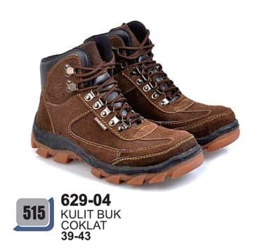 sepatu boots pria terbaru dan casual azzurra asli kulit buk 629-04 -  Cokelat 2d61a571b6
