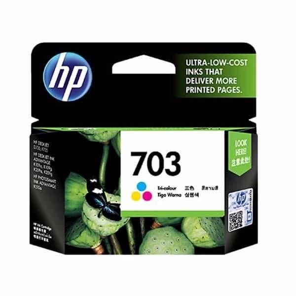 TERBARU Tinta HP 703 Tri Color Ink Cartridge Original CD888AA